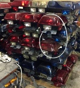 Lightbar wiseguys used emergency equipment rotator lightbars - Federal signal interior lightbar ...